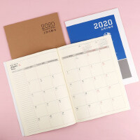 年历本2020工作小秘书A4办公学习周计划本备忘录记事本日程本效率手册日计划工作记事本时间管理笔记本子