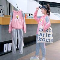 亲子装女童春装新款中大童运动套装儿童两件套春秋