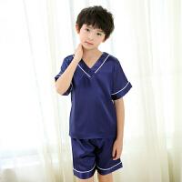 儿童睡衣夏季短袖套装中大童家居服夏天空调服睡衣