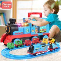 仿真小火车轨道套装玩具儿童男孩汽车合金模型宝宝益智3多功能2岁