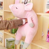 毛绒玩具儿童生日礼物趴趴猪公仔睡觉抱枕大号可爱粉色猪公仔女孩