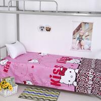 宿舍单人床单单件 学生寝室上下铺单子简约格子1.2m1.5米男女被单T