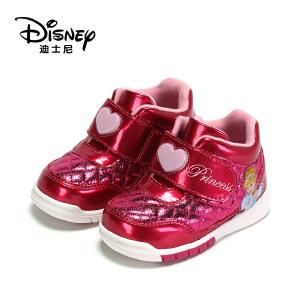 鞋柜/迪士尼女童鞋宝宝鞋运动休闲平底单鞋魔术贴甜美1