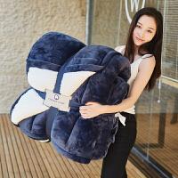 家纺法兰绒纯色毛毯子双层加厚被子单人双人羊羔绒秋冬季盖毯 269cmx241cm 9.5斤(双人)