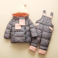 新款儿童宝宝羽绒服套装1-2-3岁婴幼儿冬装男女童反季厚