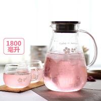 【支持礼品卡】冷水壶玻璃耐热高温防爆凉水杯家用套装扎壶大容量凉水壶x8o