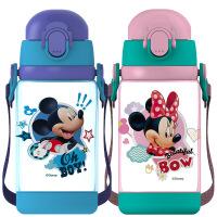 迪士尼 新品迪士尼儿童水杯带吸管防摔塑料杯小学生双盖男女宝宝便携水壶夏