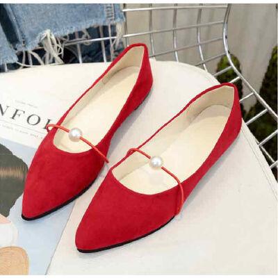 ELEISE美国艾蕾莎新品156-054韩版磨砂绒面平跟女士单鞋
