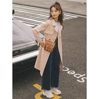韩版外套港风2019冬季女装新款原宿风中长款风衣格子风气质大衣潮