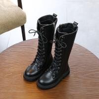 秋冬季新款女童过膝长靴儿童公主靴子中大童加绒高筒靴亲子鞋