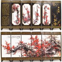 仿古漆器 小屏风装饰摆件中国特色出国礼品送老外小礼物