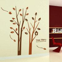 宜美贴 树林的故事墙贴 客厅沙发电视墙卧室背景墙装饰