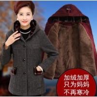 中老年女装妈妈冬装棉衣外套40-50岁中长款中年人棉袄女毛呢