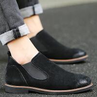 CUM 马丁靴男低帮皮靴青少年休闲皮鞋男士短靴子学生皮秋季单鞋