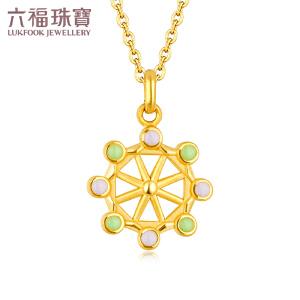 六福珠宝幸福摩天轮系列珐琅黄金吊坠女不含链定价 GFA1TBP0015