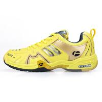 送加厚袜 flex羽毛球鞋男鞋女鞋FB-920B+ 加宽型 黄色(送袜子一双)