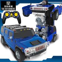 【遥控变形玩具援救悍马】男孩模型儿童正版4金刚5超大汽车机器人