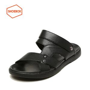 达芙妮旗下SHOEBOX/鞋柜新款男鞋男士凉鞋凉拖鞋两穿舒适潮
