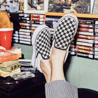 【网易考拉】Vans 范斯 SLIP ON 男女棋盘格经典款黑白SLIP ON帆布鞋男女鞋板鞋