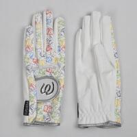 高尔夫手套女 卡通印花防滑耐磨透气防晒双手