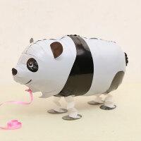 走路宠物气球散步气球儿童生日卡通造型宠物气球 走路系列 熊猫