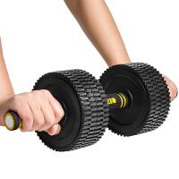 哑铃包胶环腹收腹塑臂瘦臂多功能钢制电镀家用健身器材 秒变健腹轮 秒变杠铃 一款多用 总重10KG/单只5KG