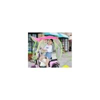 自行车小型电动车遮阳伞防晒防紫外线遮雨棚摩托电瓶车挡风罩挡电