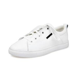 O'SHELL法国欧希尔新品065-025-2休闲头层牛皮里外全皮真皮平底女士小白鞋
