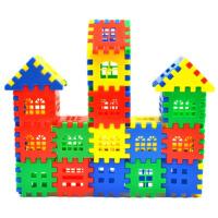 幼儿园桌面积木大号方块宝宝乐园塑料积木房子拼装拼插玩具3-6岁 500片 (5斤袋装幼儿园)