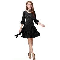 广场舞服装套装裙 跳舞蹈服装 女拉丁舞练习服装连衣裙
