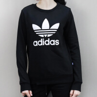 Adidas阿迪达斯 三叶草 女子 圆领卫衣 保暖套头衫 BP9490