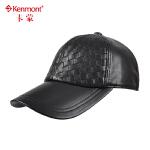 羊皮棒球帽男女款休闲帽时尚真皮帽子韩版潮男鸭舌帽格子山羊皮帽2574