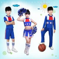 儿童啦啦操演出服女新款小学生女健美操服装运动会啦啦队表演服装