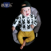 女婴儿卫衣春秋款0岁7个月男宝宝套头上衣4春秋装秋季新款外出服4