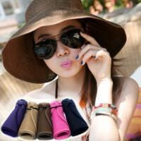夏季遮阳帽旅行防晒帽沙滩帽太阳帽子