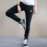 Adidas阿迪达斯 女子 运动休闲长裤 低腰收脚长裤 BQ1113