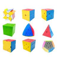圣手异形魔方三阶五魔方镜面金字塔斜转魔粽子风火轮玩具套装 9个非贴纸实色魔方全要送15赠品