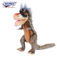 【当当自营】HANSA进口毛绒玩具 仿真恐龙公仔 霸王龙长28cm