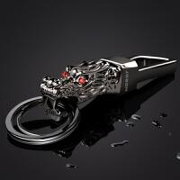 钥匙扣男士腰挂不锈钢金属创意龙头钥匙环圈链汽车挂件礼品