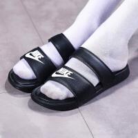 NIKE耐克女鞋拖鞋黑白绑带时尚潮搭忍者沙滩鞋819717