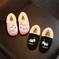秋冬季儿童棉拖鞋卡通包跟男童女童防滑宝宝1-3岁中小童室内拖鞋