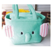 陆捌壹肆 忧伤马戏团 薄荷小象 大象 手拎包购物包饭盒包饭盒袋便当袋 1个装