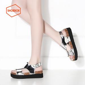 SHOEBOX/鞋柜松糕底时尚简约舒适女鞋女凉鞋