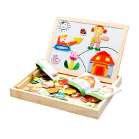 儿童磁力片拼图玩具1-2-3-4-5-6岁宝宝积木制磁性拼拼乐