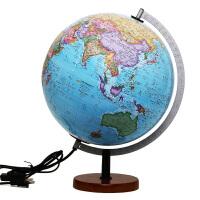 博目地球仪・贝斯马克:30cm中英文政区灯光立体地球仪(根据美国专业测绘高程数据计算生成全球立体地形;内置LED灯;精