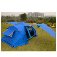 户外装备全自动帐篷双层多人旅游大帐篷5-8人两房一厅野营帐篷