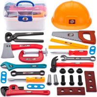 儿童过家家男孩仿真维修修理工具玩具手提箱工具箱套装巴布工程师 C款工具套装 27件