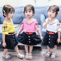 夏装女童短袖一套装7儿童8小学生穿的10短裙子十岁12女孩夏天衣服