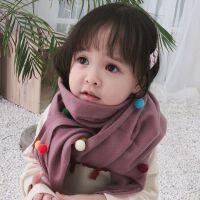 秋冬季儿童保暖可爱柔软亲肤小孩围巾宝宝韩版女童流苏围脖仿羊绒6-12岁