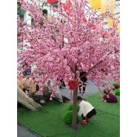 仿真桃花树假桃花室内盆栽盆景小号桃花树商场客厅装饰花樱花榕树